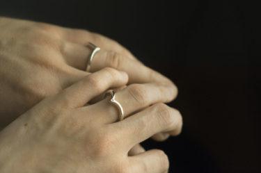 zestaw niestypowych obrączek ślubnych