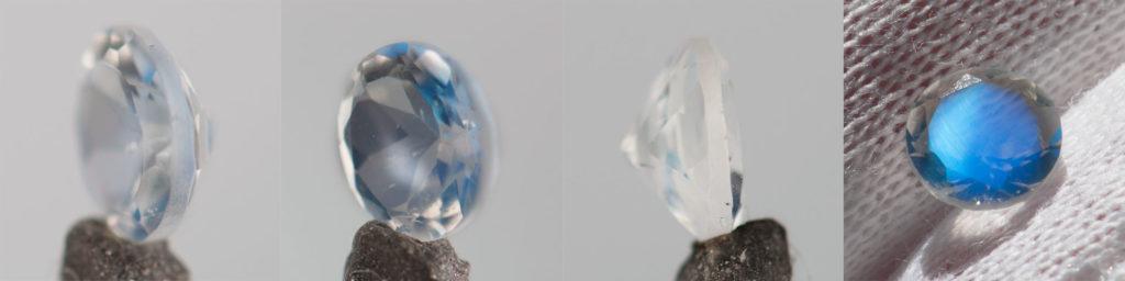 niebieski kamień księżycowy AAA