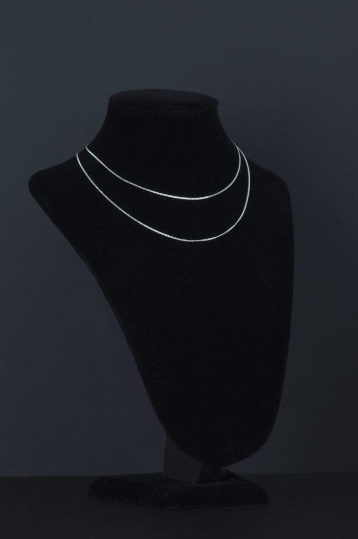 srebrny łańcuszek pancerka