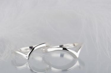 zestaw nietypowych obrączek ślubnych