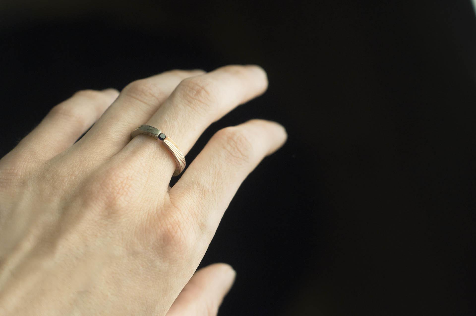 pierścionek mokume gane