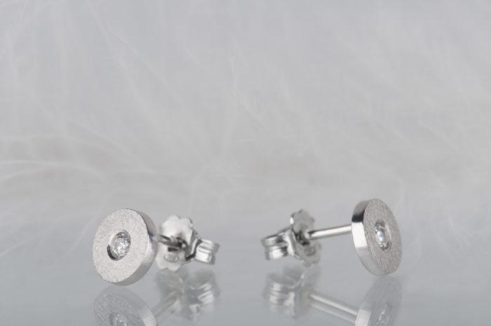kolczyki z diamentami srebro
