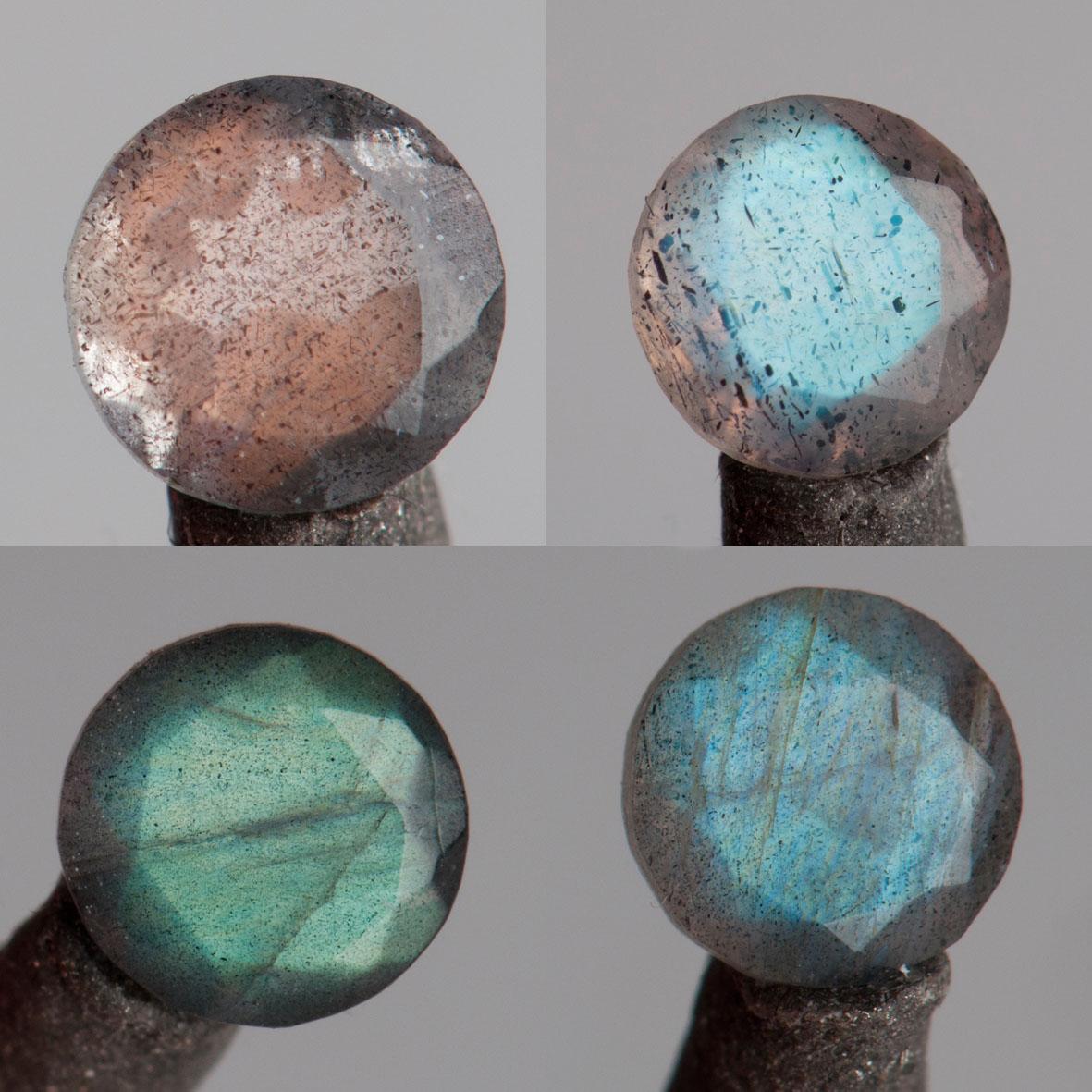 labradoryty fasetowane różne kolory